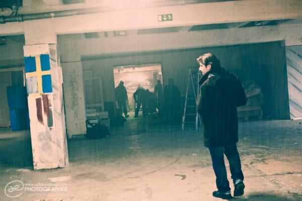 Glen Gabriel på The Filmen inspelning.